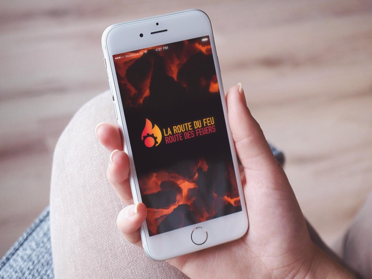 La Route du feu Webseite auf Smartphone