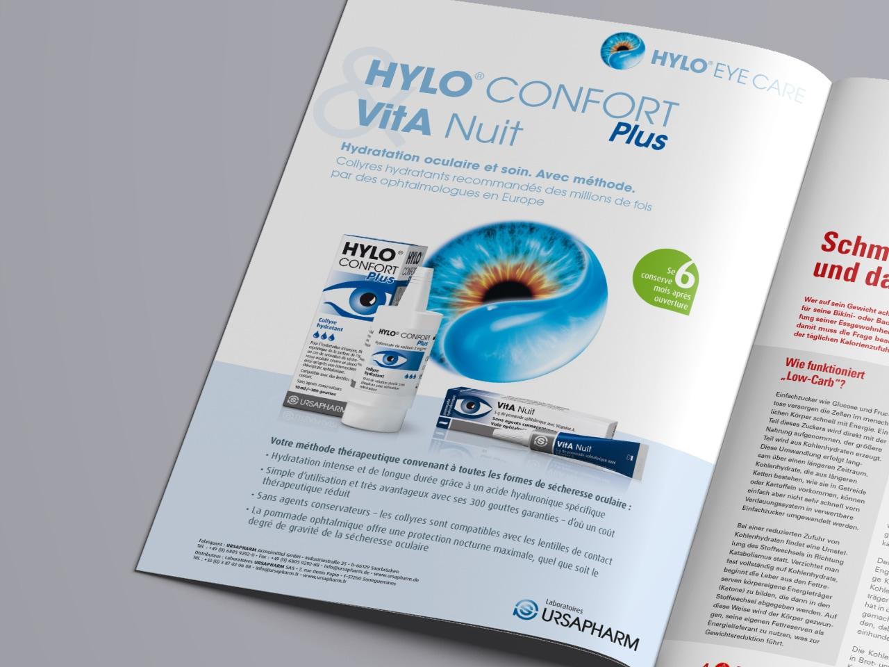 HYLO-Confort Anzeige